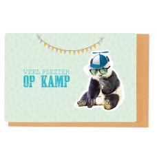 Wenskaart met panda - Veel plezier op kamp (2251)